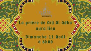 La fête du sacrifice (Aïd El Adha) débute le dimanche 11 août 2019