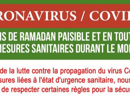 Pour un mois de Ramadan paisible et en toute sécurité.