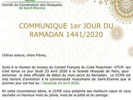 Vendredi 24 avril premier jour de Ramadan