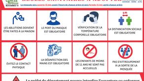 Démarches pour un déconfinement progressif en toute sécurité - Grande Mosquée Mohammed VI St-Étienne