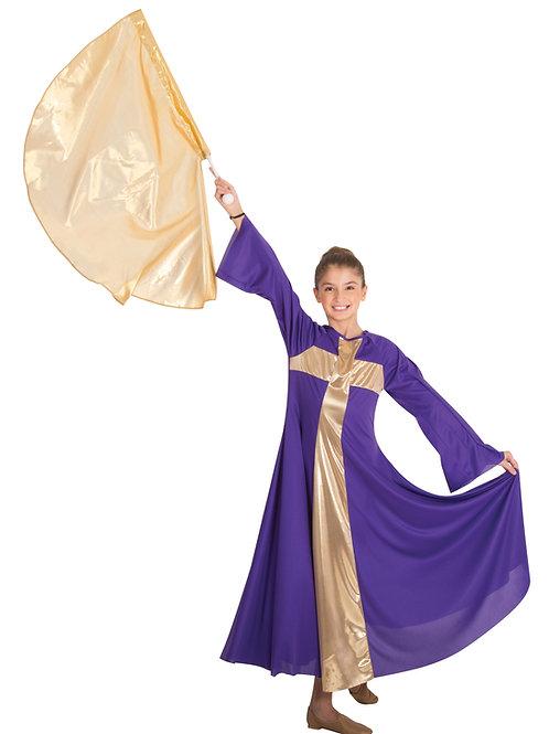0620 Child Praise Cross Long Dress