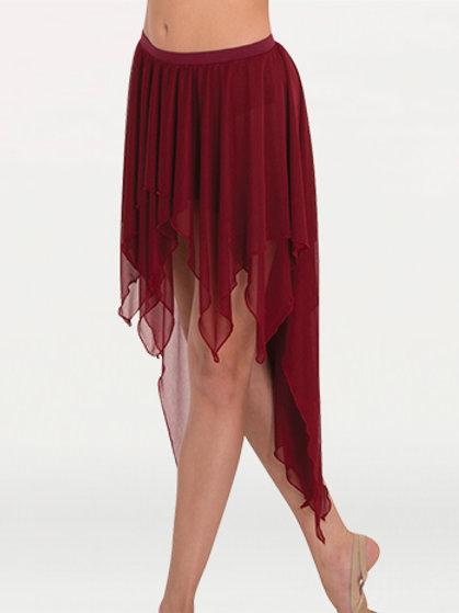 BW9115 Drapey Hi-Lo Chiffon Skirt