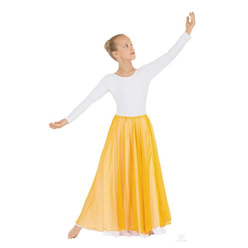 39746C Child Floor Length Chiffon Overlay Skirt