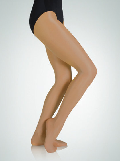 A55 Body Wrappers Ultra Shimmery Footed Tights