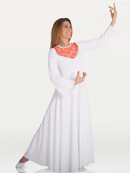 625 Adult Lace Insert Dress