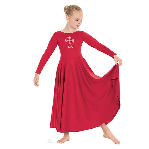 11022C Child Rhinestone Dress
