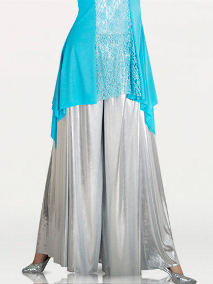 0611 Child Metallic Palazzo Pants