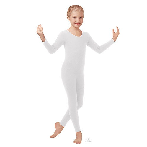 10529 Child Cotton Long Sleeve Unitard