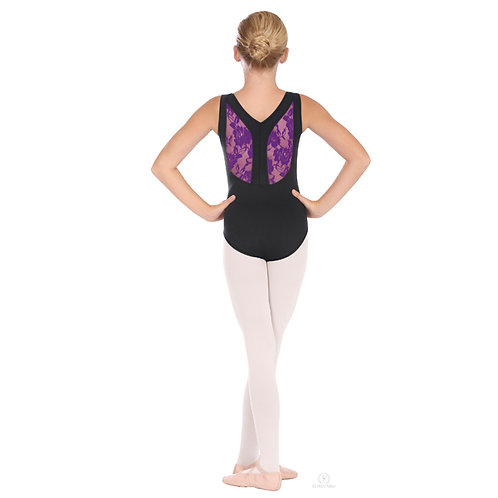 EU45879C Child Lacey Back Leotard