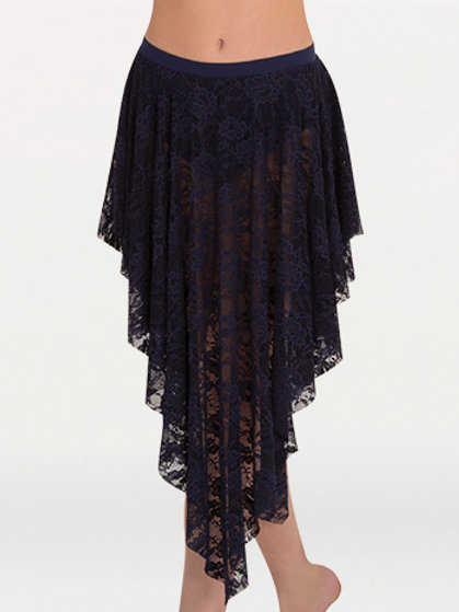 LC9113 Lace Convertible Drapey Skirt