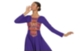 Praise dance wear purple dress