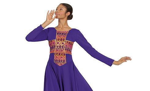 Praise dance wear purple dress