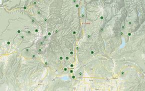 Map of trails near Durango, Colorado _ A