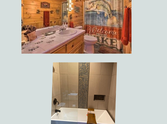 Bathroom - Master - before & after