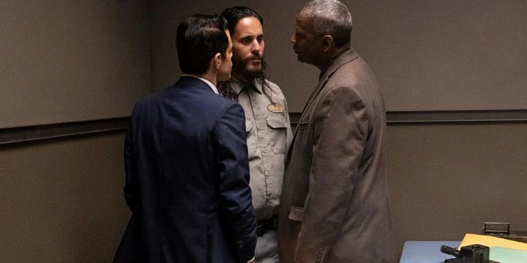 Deacon (Denzel Washington), Sparma (Jared Leto), and Baxter (Rami Malek) in The Little Things