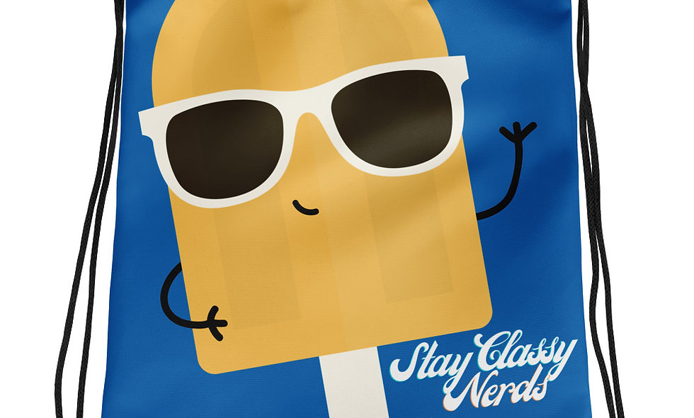 """Stay Classy Nerds"" Drawstring bag"