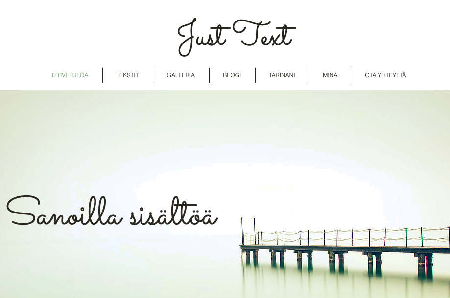 Just Text / Piia Vuorio