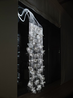 10. Woven light and porcelain.