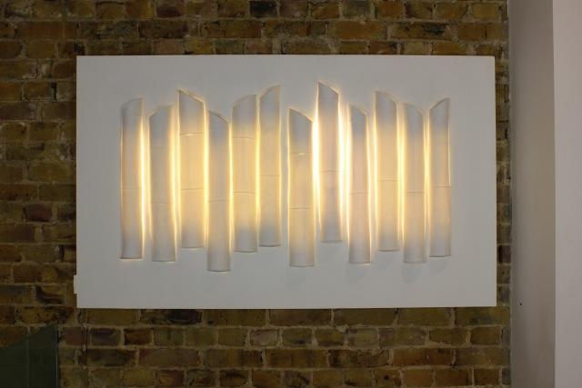 14. Cast Bamboo porcelain light