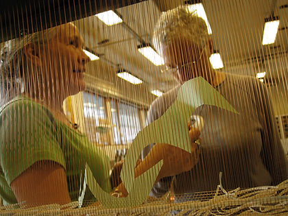Sirkka working on a paper installation.jpeg