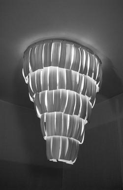 18. Thrown porcelain chandelier