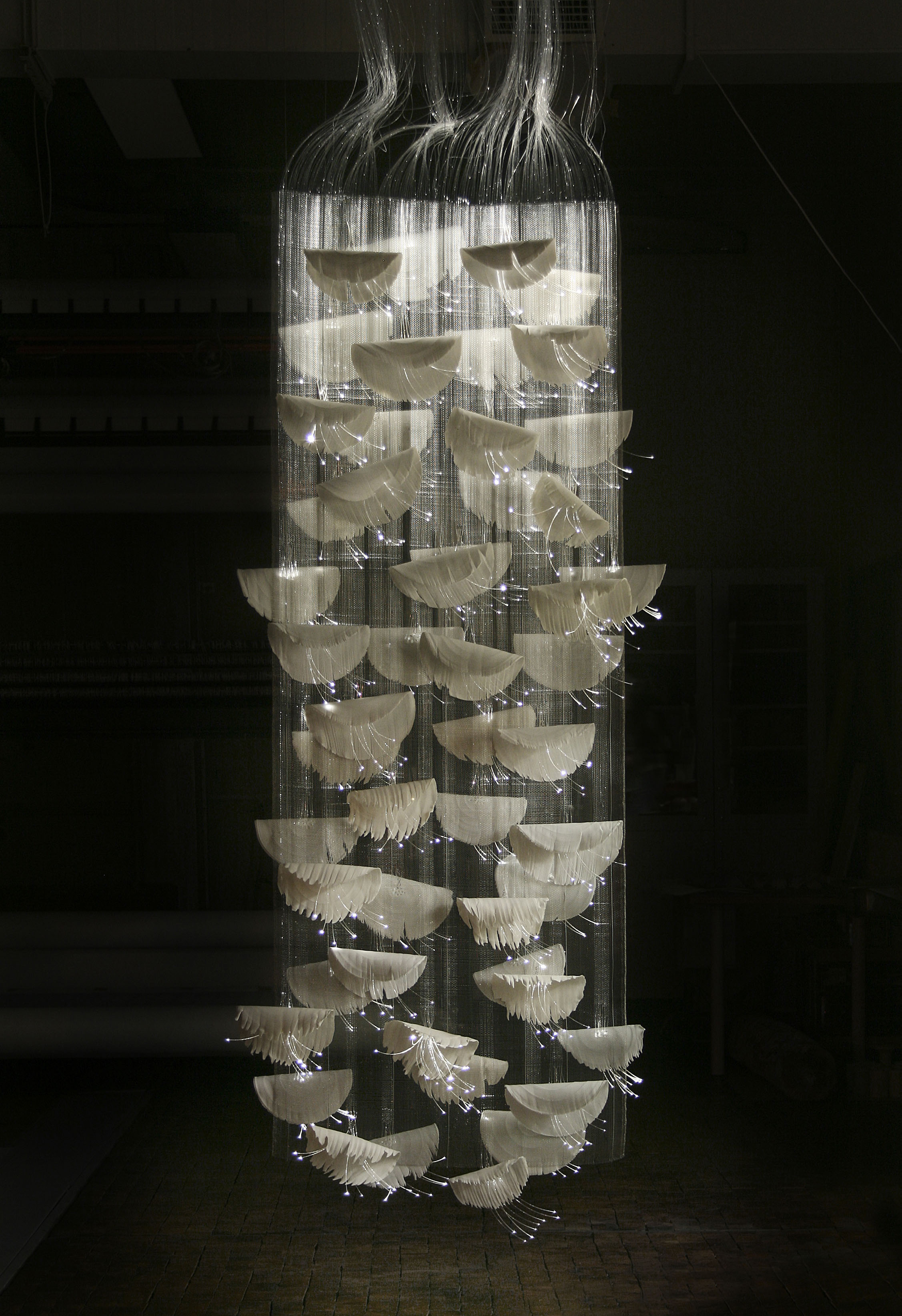 "15. ""Woven Light and porcelain""."