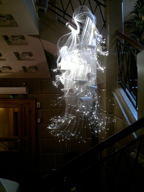 13. Woven light chandelier