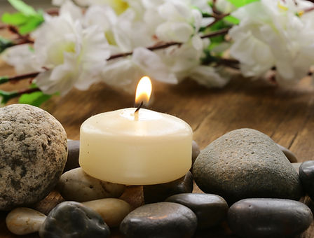 Relaxing Spa with Candle