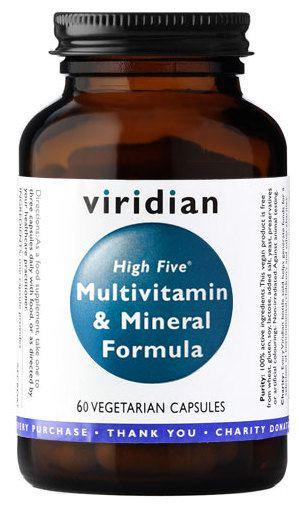 VIRIDIAN, HIGHFIVE MULTIVITAMIN & MINERAL FORMULA, 60 TABLETIEK