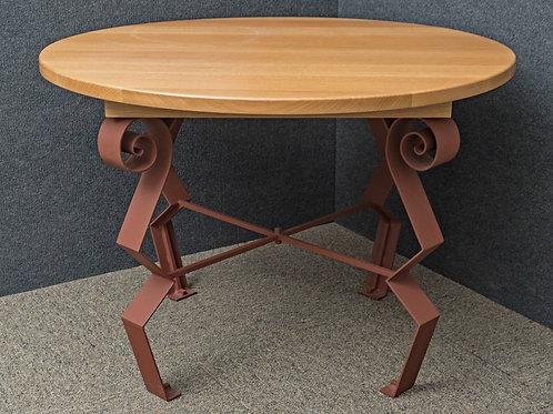 White Oak  & Steel Dining Table