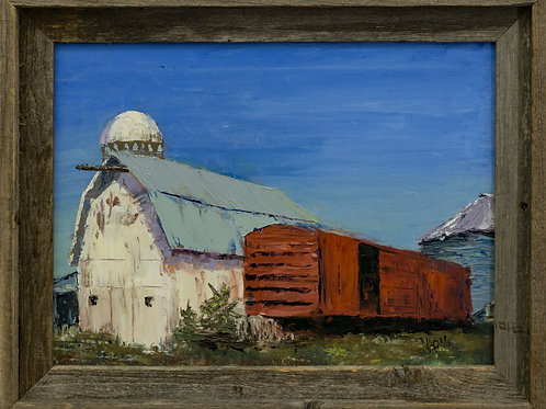 """Dairyland, Red, White and Blue  18 3/4""""X 134 3/4"""""""
