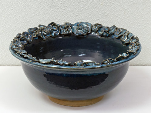 Blue Bowl with Flowers