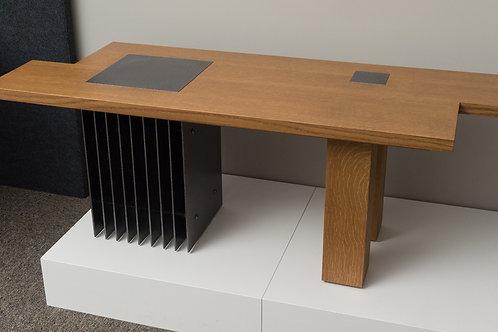 White Oak & Steel Coffee Table