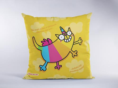 Rainbow Kittycorn Cushion