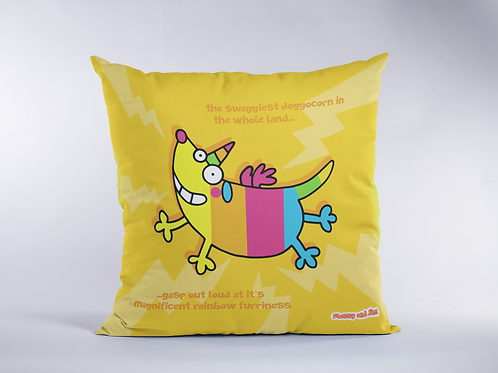 Rainbow Doggocorn Cushion