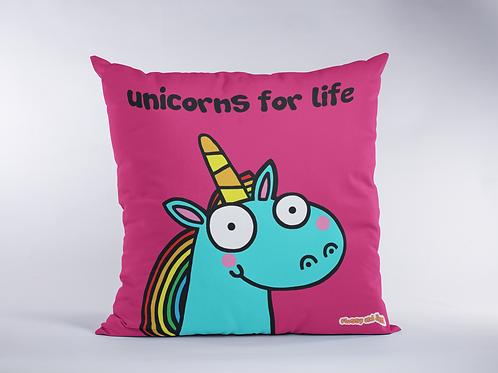 Unicorns for Life Cushion