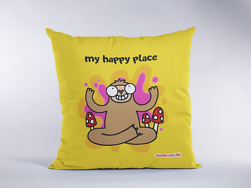 My Happy Place Sloth Cushion