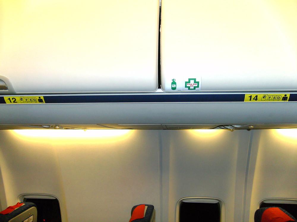 RyanAiri lennuk, millel puudub 13. istmerida