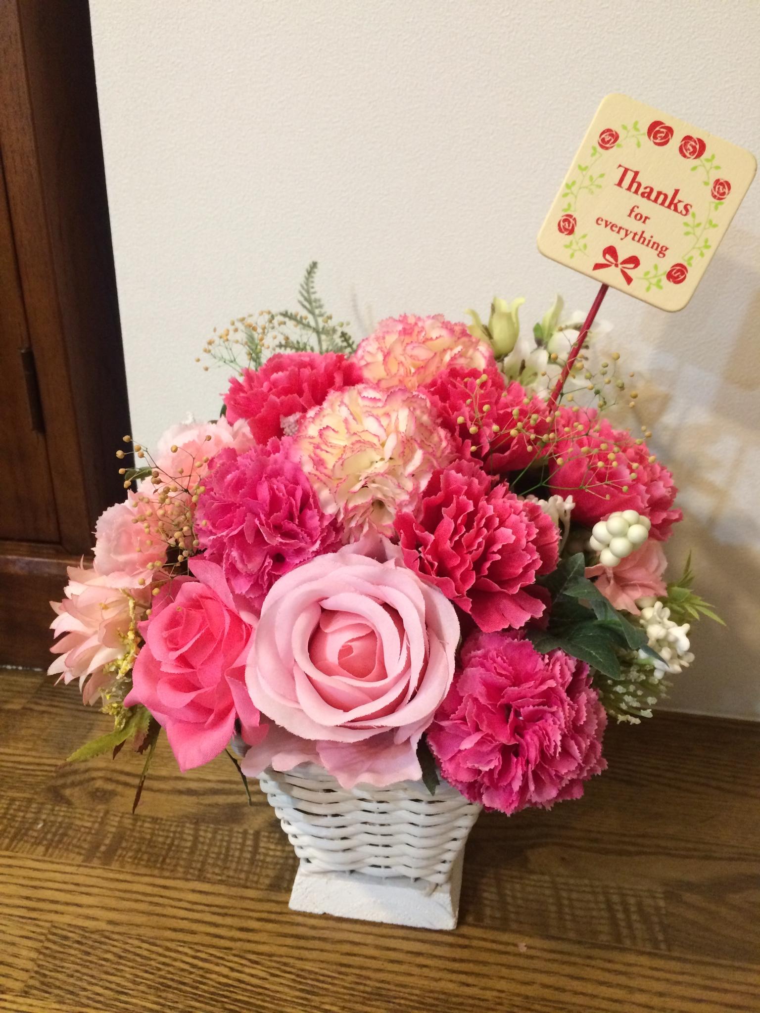 母の日アレンジメント ピンク