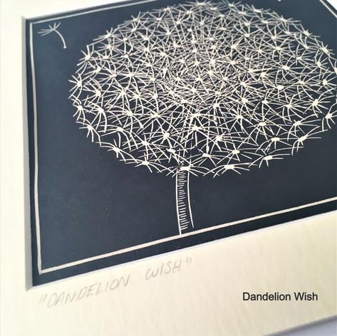 MegaLilyDesign Dandelion Wish Lino Print