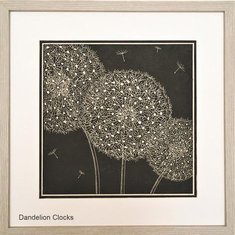 MegaLilyDesign Dandelion Clocks Lino Print