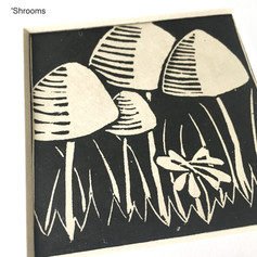 MegaLilyDesign 'Shrooms Lino Print