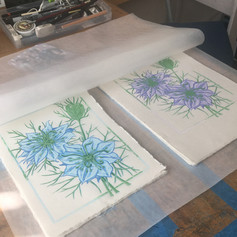 """Penultimate layer of """"Love in a Mist"""" ready for printing of final layer."""