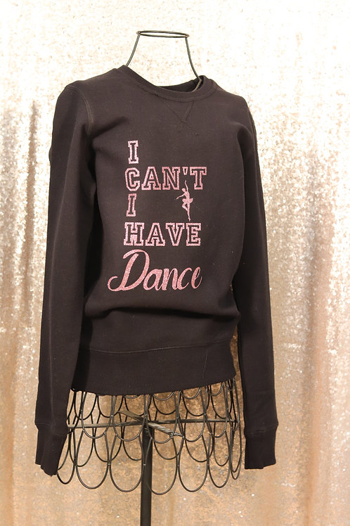 I Can't I Have Dance Rose Gold Black Sweater