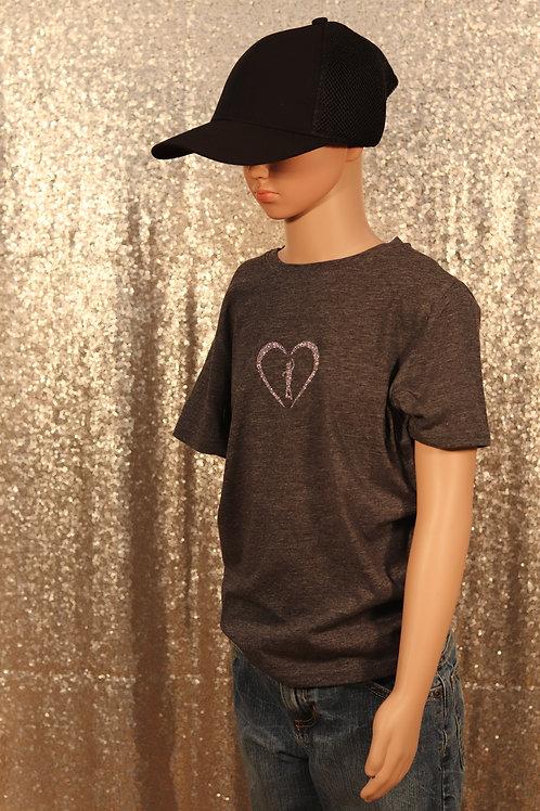 Grey T Shirt Heart