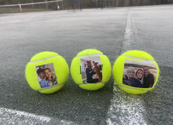 NTB Personalised Adults tennis balls - Photo edition