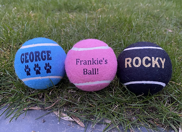 NTB Personalised coloured dog balls