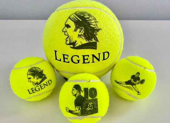 NTB Personalised Adult's Tennis Balls - Iconic Tennis Players Edition