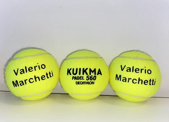 NTB Personalised PADEL tennis balls - Standard text edition