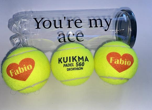 NTB Personalised PADEL tennis balls - Small design edition